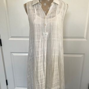 Anthropologie White Cotton Dress